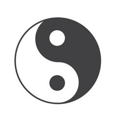 Yin yang glyph icon vector