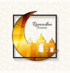 Background for muslim community festival ramadan vector