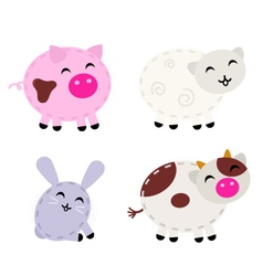 cute farm animals vector image vector image