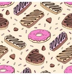 Doughnut Seamless pattern vector image