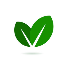 Eco Leaf Logo Green Icon vector image vector image