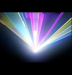 laser disco lights background vector image vector image