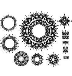 Ornament Pattern with pattern brash vector image vector image