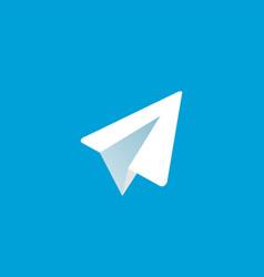 paper aircraft logo icon vector image