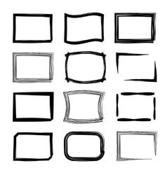 Rectangular frames felt-tip pen and marker style vector
