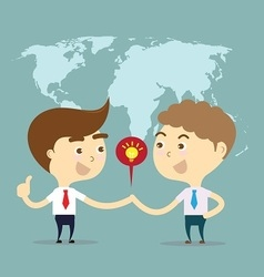 two businessman shake hands for sell idea vector image
