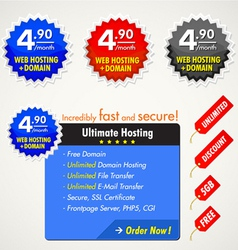 web elements for hosting vector image vector image