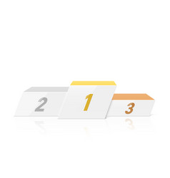 white podium for winners in dynamic style vector image vector image