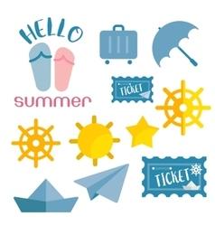beach sneaker summer set web icon vector image vector image