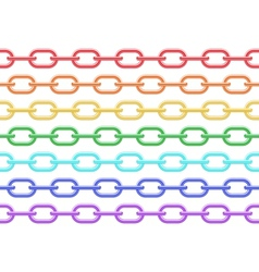 colorful chain seamless vector image
