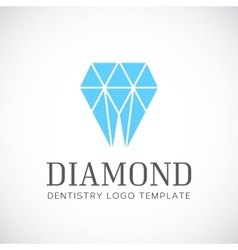 Diamond Dentistry Tooth Abstract Logo Template vector image
