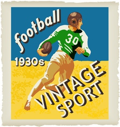 football vintage vector image vector image