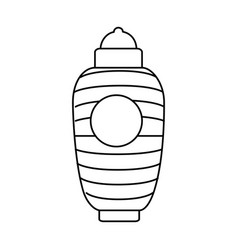 japanese classic lamp icon vector image