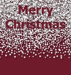 Lettering Merry Christmas on red backdrop white vector image vector image