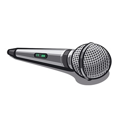 modern plugged microphone vector image vector image