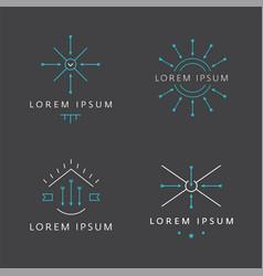 modern vintage minimal logo vector image vector image