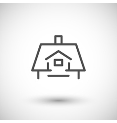 Roof line icon vector image vector image
