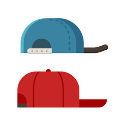 summer caps icons vector image