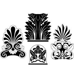 architectural stencil vector image
