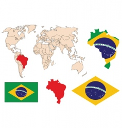 brazil in the world vector image