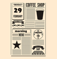 coffee shop typographical vintage poster vector image