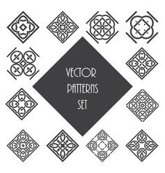 Knot ornament design set vector image