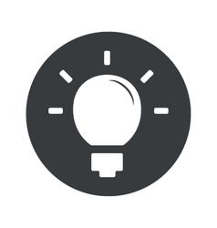 Monochrome round light bulb icon vector image