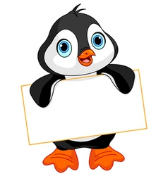 Penguin sign vector image vector image