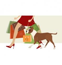shopping helper vector image