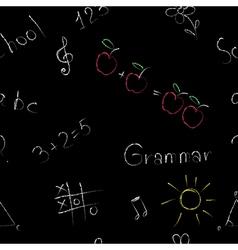 Elementary school seamless pattern on a blackboard vector image