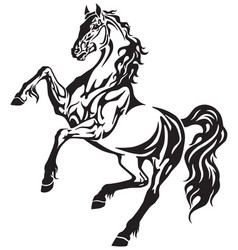 horse tribal tattoo vector image vector image
