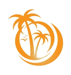palm tree emblems icon sign design element vector image vector image