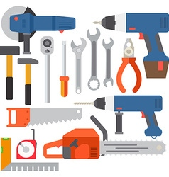 Repair tools and construction tools icons vector image vector image