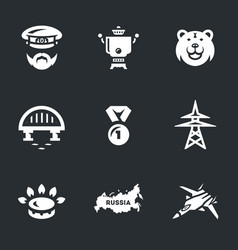 set of russia icons vector image vector image