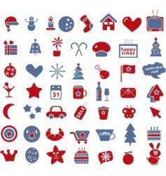 50 winter holidays signs vector