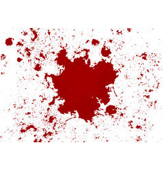 abstract blood splatter red color isolated vector image
