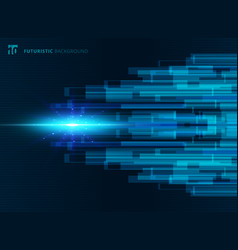 abstract blue virtual technology concept vector image