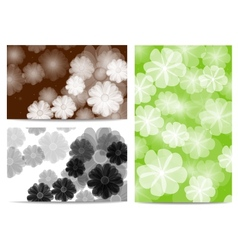 abstract flora background vector image
