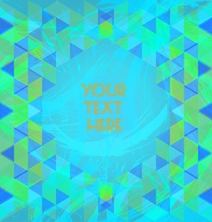 Abstract green and blue design with your text here vector image