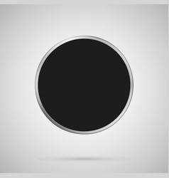 abstract round metal texture black template vector image
