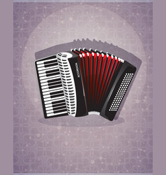 accordion with red bellows vector image