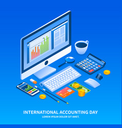 Accounting day holiday concept background vector