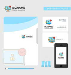 avatar on monitor business logo file cover vector image