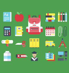 back to school icon set vector image