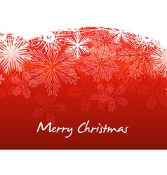 Beautiful red Christmas vector image