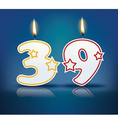 Birthday candle number 39 vector
