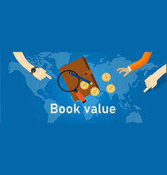 book value assets and liabilities a company vector image