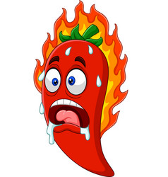 cartoon chili pepper vector image