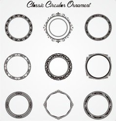 Classic circular ornament vector