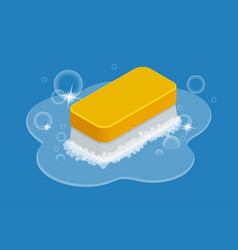 cleaning service element sponge foam vector image